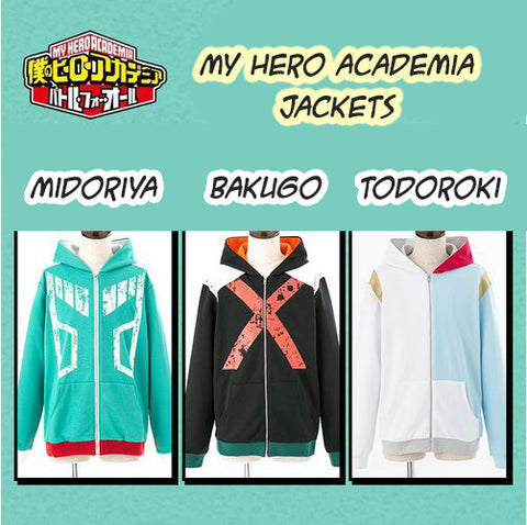 Boku no Hero Academia: Hero-Themed Jackets