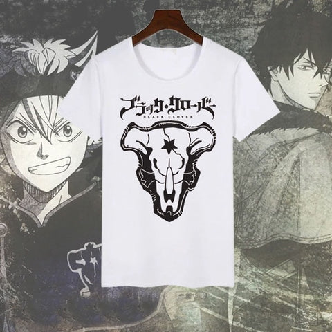 Black Clover: White Bulls' Themed T-Shirt