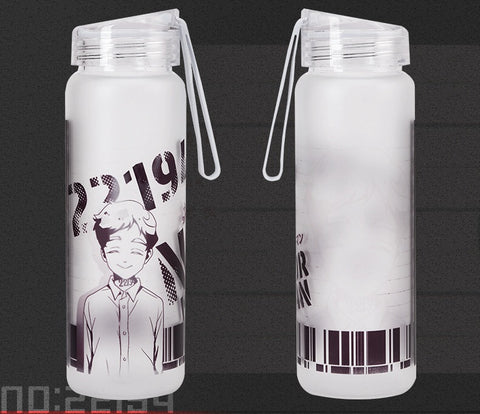 The Promised Neverland: Frosted Glass Water Bottles Emma Norman Ray