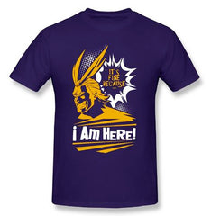 My Hero Academia: It's Fine Because I'm Here! All Might Themed BNHA T Shirt 100% COTTON