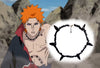 Image of Pain Necklace Naruto (Pein/Yahiko) REAL Gemstone Chippings - Apatite Black