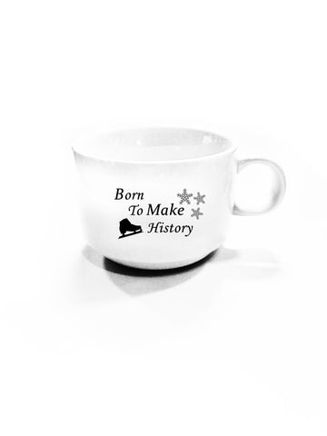 "Yuri on Ice!!: ""Born to Make History"" Ice Skate and Snowflakes Mug/Cup"