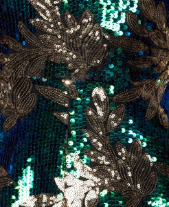 Peacock Green Sequin Embellished Playsuit