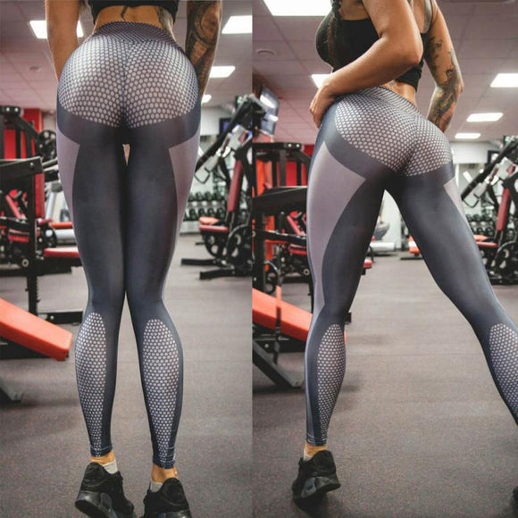 Yoga Pants Elastic Waist Stretch Slim Leggings