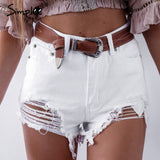 Mini ripped short jeans