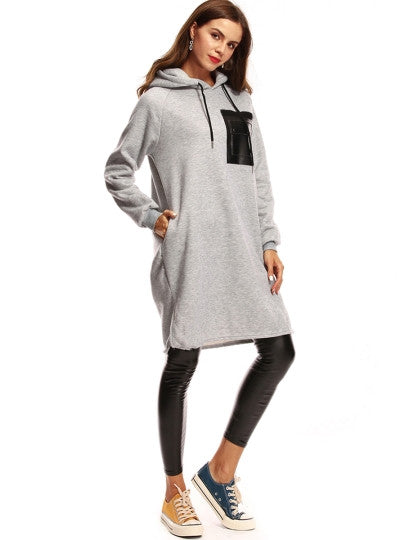 Hooded Dress w/Pockets