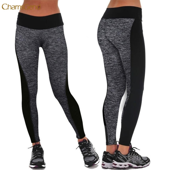 Durable Legging Fitness Workout Patchwork Elastic High Waist