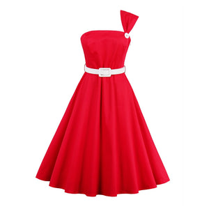 Elegant Cotton Illusion Red A-line Dress