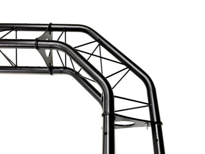 Black Truss Arch Kit 23 ft. Width Mobile Portable DJ Lighting System Metal Bolts 5' Upright Truss Totem Mounted On Each Truss Base!