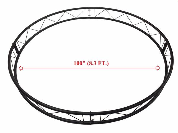 "100"" Diameter Linear Truss 1.5"" Pipe 4 Sections Circle 8.33Ft Trussing 10"" Width"