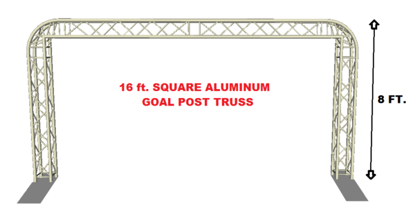 Complete 16ft Square Aluminum Truss Goal Post Lighting System DJ Lights Speakers
