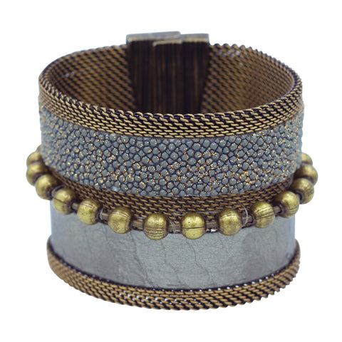 grey snakeskin stingray cuff