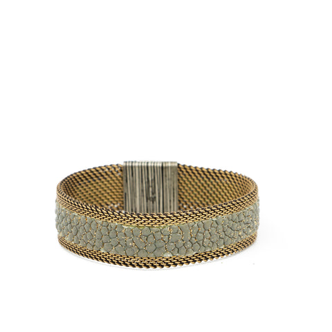 Grey/Gold Shimmer Stingray Bracelet