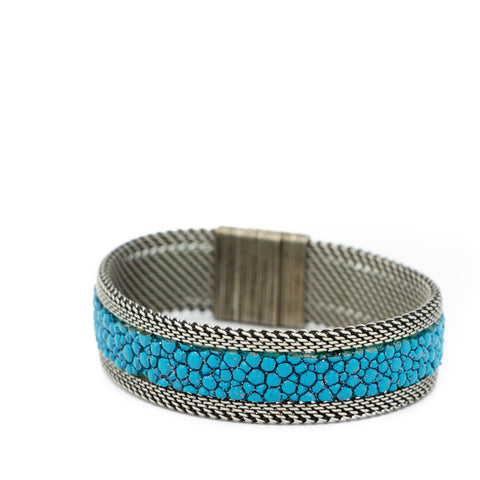 Teal Shimmer Stingray Bracelet