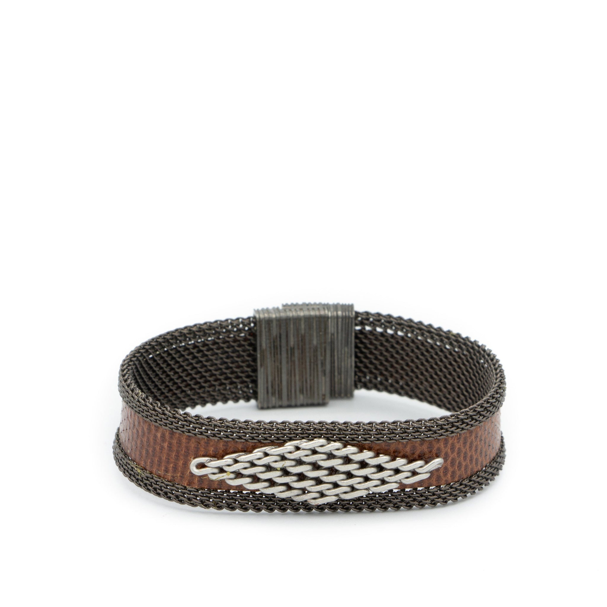 brown snakeskin chain bracelet
