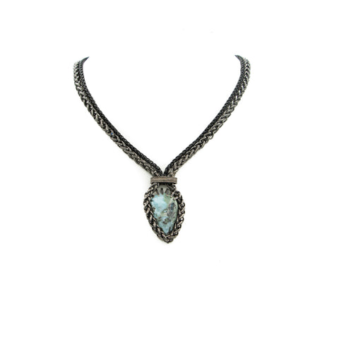 Larimar & Chains Necklace