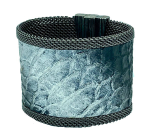 Black and Silver Wash Cuff
