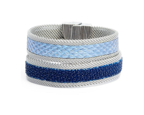 Double Blues Cuff
