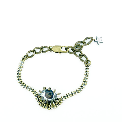 Brown Swarovski Eye Bracelet