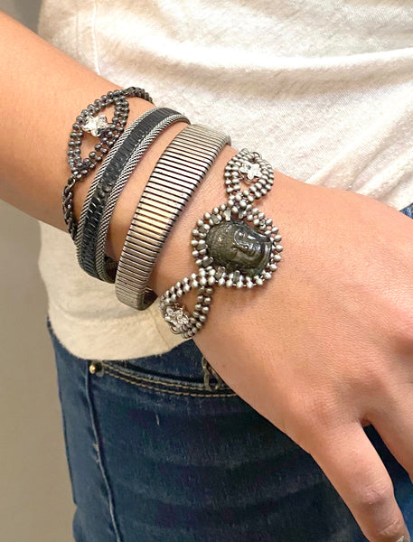 Star Eye Bracelet in Gunmetal