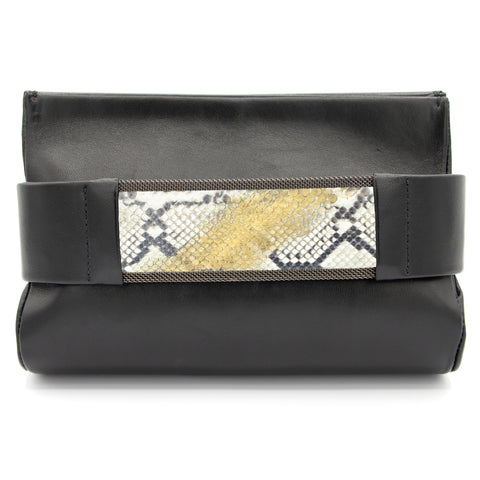 Bronze to Gold Natural Snakeskin Clutch Bag