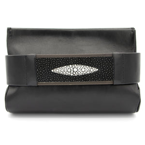 Black Stingray Eye Clutch Bag