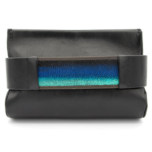 Teal Ombré Stingray Clutch Bag
