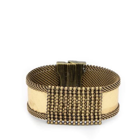 gold snakeskin beaded cuff