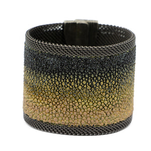 Gold & Black Ombre Shimmer Stingray Cuff