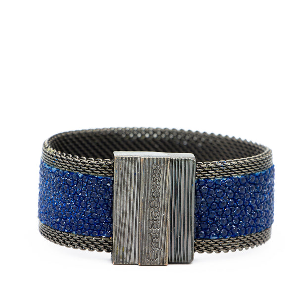 Navy Galaxy Shimmer Stingray Cuff