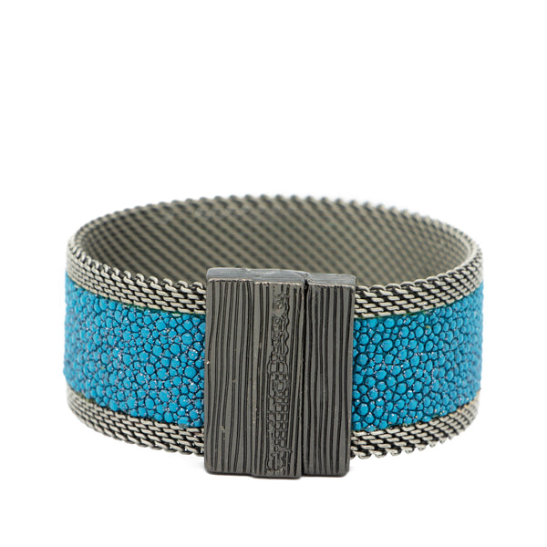 Teal Shimmer Stingray Cuff