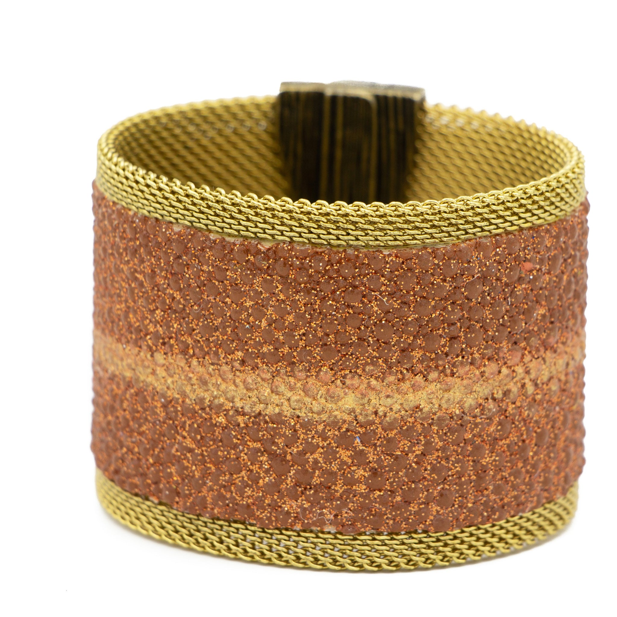 Mocha Shimmer Stingray Cuff Golden Stripe
