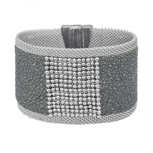 grey shimmer stingray cuff