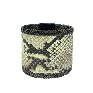 Wide Natural Snakeskin Cuff