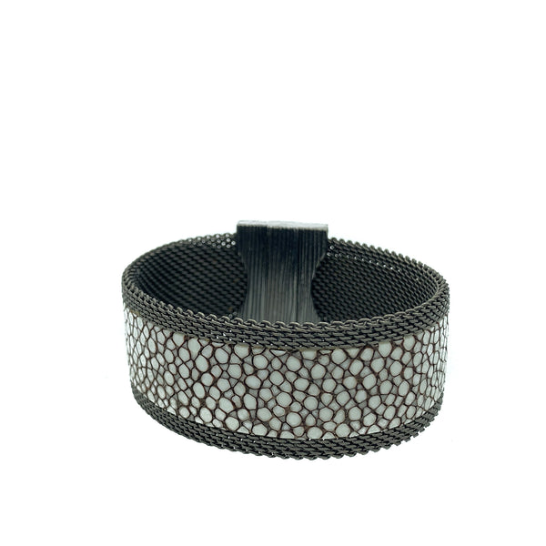 Men's Narrow Polished Stingray Cuff