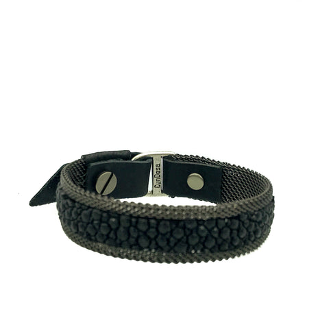 Men's Thin Black Stingray Bracelet