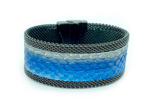 Narrow Layers of Blues Cuff