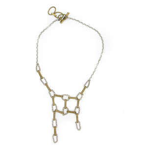 "Adjustable ""Web"" Wheatchain Necklace"