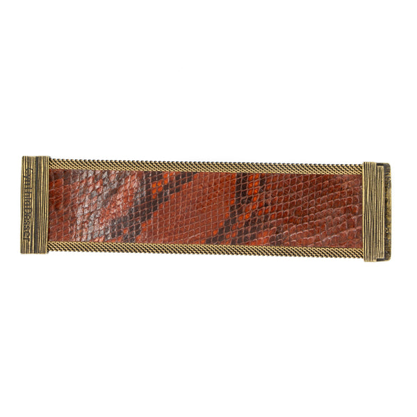 Brown Snakeskin Cuff