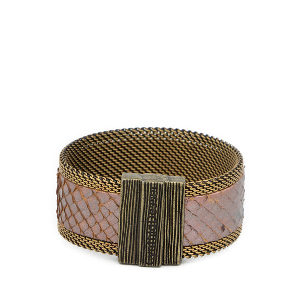 purple snakeskin cuff