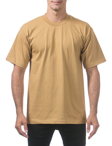 Pro Club Heavy Weight  Short Sleeve Tee Shirts Mustard