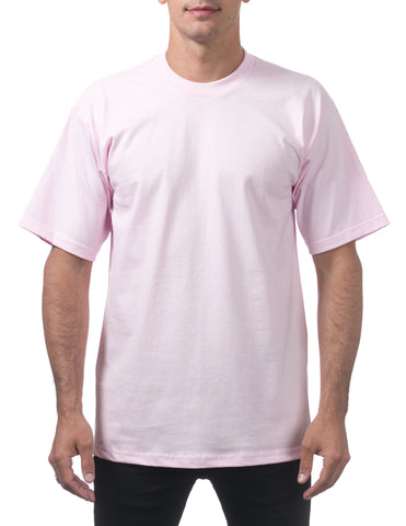 Pro Club Heavy Weight  Short Sleeve Tee Shirts Pink