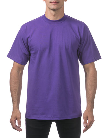Pro Club Heavy Weight  Short Sleeve Tee Shirts Purple