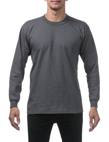 Pro Club Heavy Weight  Long Sleeve T Shirts GRAPHITE