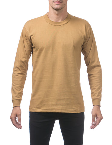 Pro Club Heavy Weight  Long Sleeve T Shirts MUSTARD