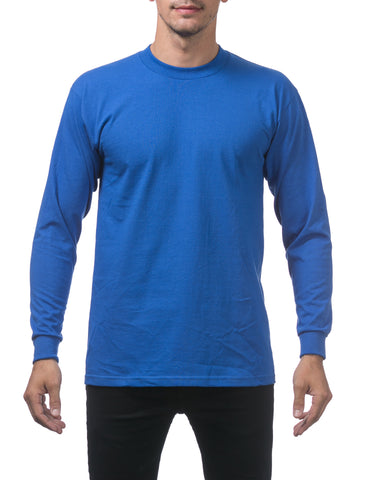 Pro Club Heavy Weight Long Sleeve T Shirts ROYAL BLUE