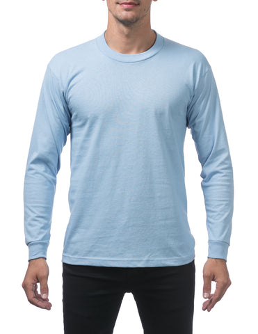 Pro Club Heavy Weight Long Sleeve T Shirts SKY BLUE