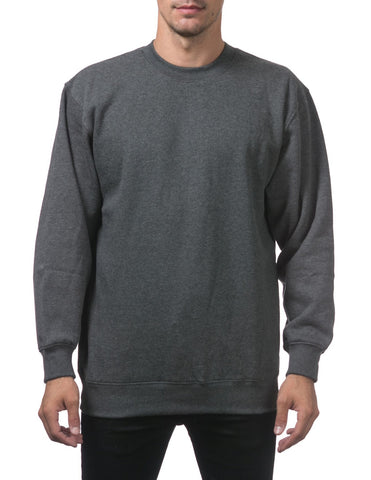 PRO CLUB Heavyweight Crew Neck Fleece Pullover Sweater (13oz) – CHARCOLE
