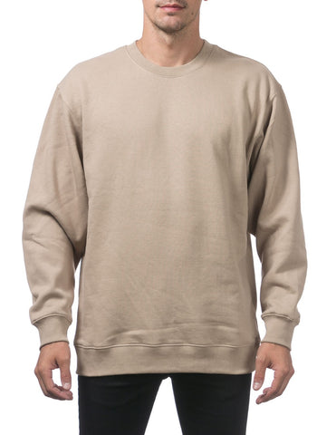 PRO CLUB Heavyweight Crew Neck Fleece Pullover Sweater (13oz) – KHAKI