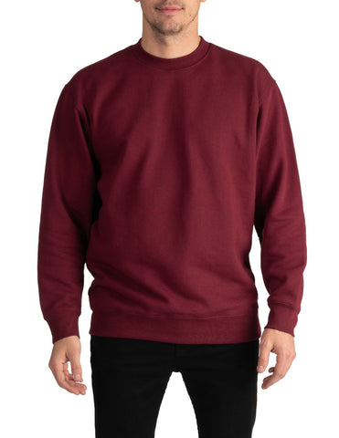 PRO CLUB Heavyweight Crew Neck Fleece Pullover Sweater (13oz) – MAROON